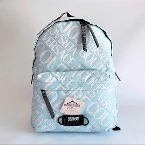 ⭕️ VERSACE JEANS Men's Backpack Blue Logo Large